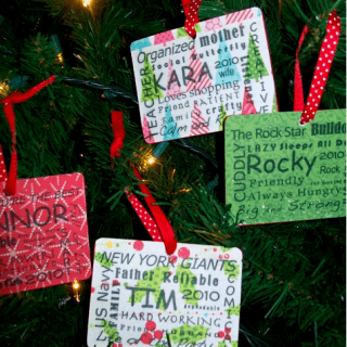 Subway Art Personalized Ornaments