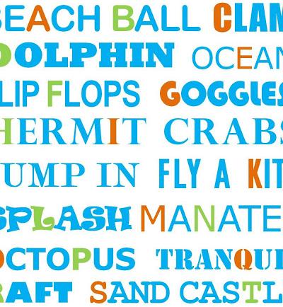 beach alphabet subway art