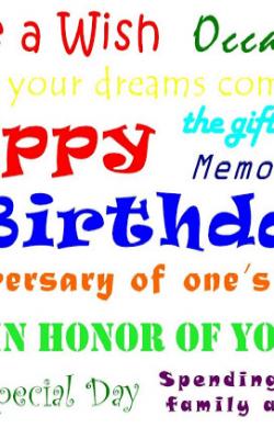 Birthday Placemat