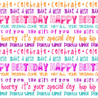 Happy Birthday Placemats