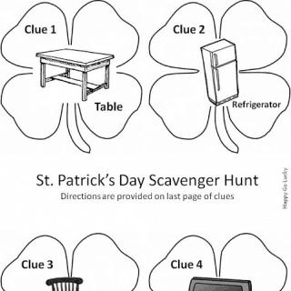 St. Patrick's Day Scavenger Hunt – Free Printable