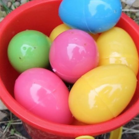 fill Easter eggs with playdough