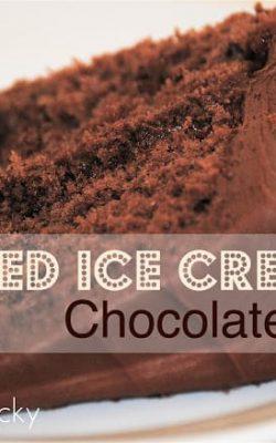 Melted Ice Cream Chocolate Cake