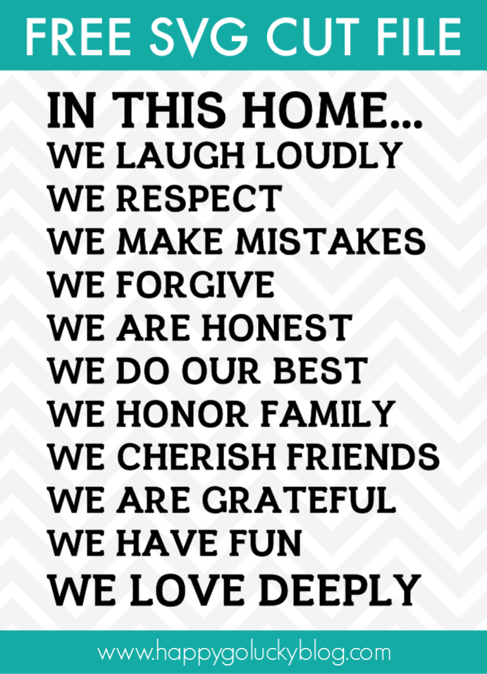 Family Sign SVG Cut File