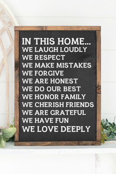 Family Rules Sign In This Home