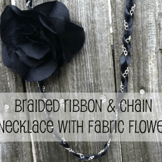 Braided Ribbon and Chain Necklace