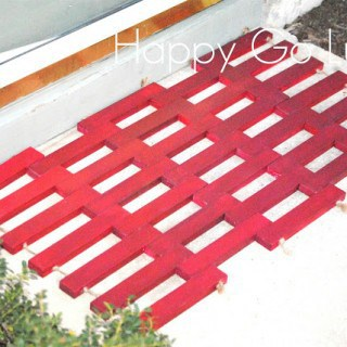 Wooden Doormat {My Pinterest Project}
