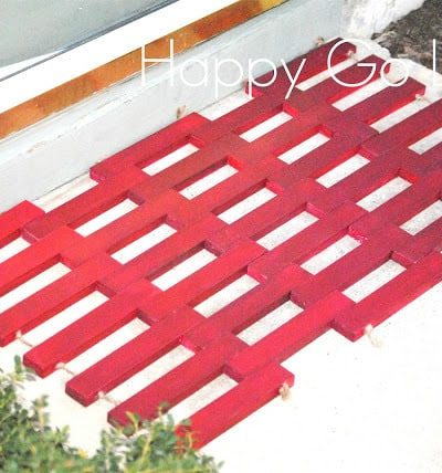 Wooden Doormat