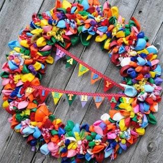 Balloon Birthday Wreath {Pinterest Challenge Project}