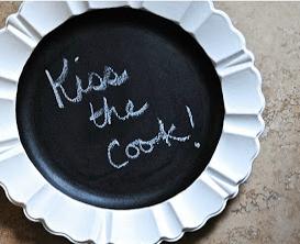 Chalkboard Plate Inspired by Pinterest