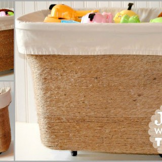 Jute Wrapped Toy Bin