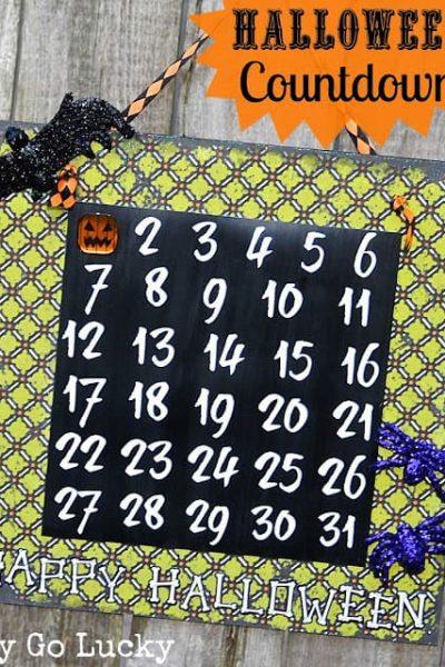 Magnetic Halloween Countdown