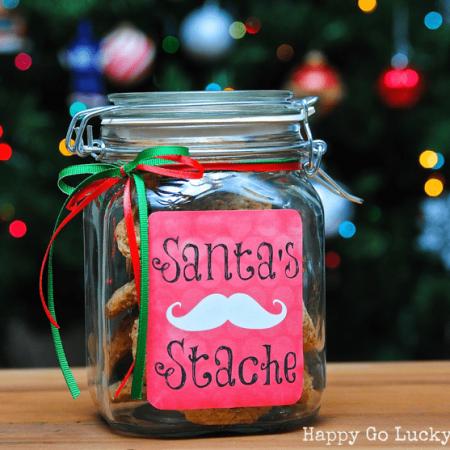 Santa's Stache Free Printable