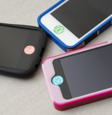 Monogram your cell phone