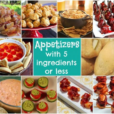 Appetizers with 5 Ingredients or less
