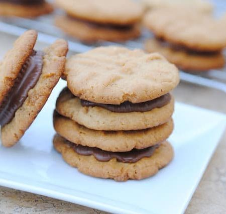 Reese's Peanut Butter Cup Cookie Sandwiches