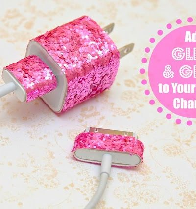 Glitter Ribbon Cell Phone Charger