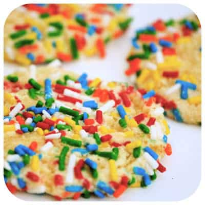 Cool Whip Cookies with Sprinkles