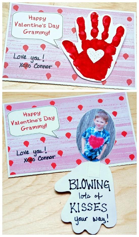 handprint valentine u0026 39 s day card
