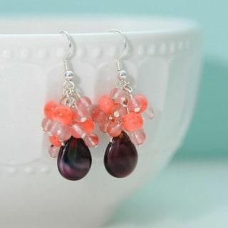 Spring Bling Week – Color Block Beaded Earrings