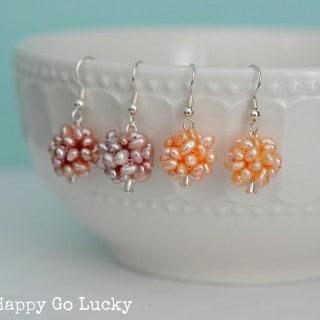Spring Bling Week – Pearl Cluster Earrings