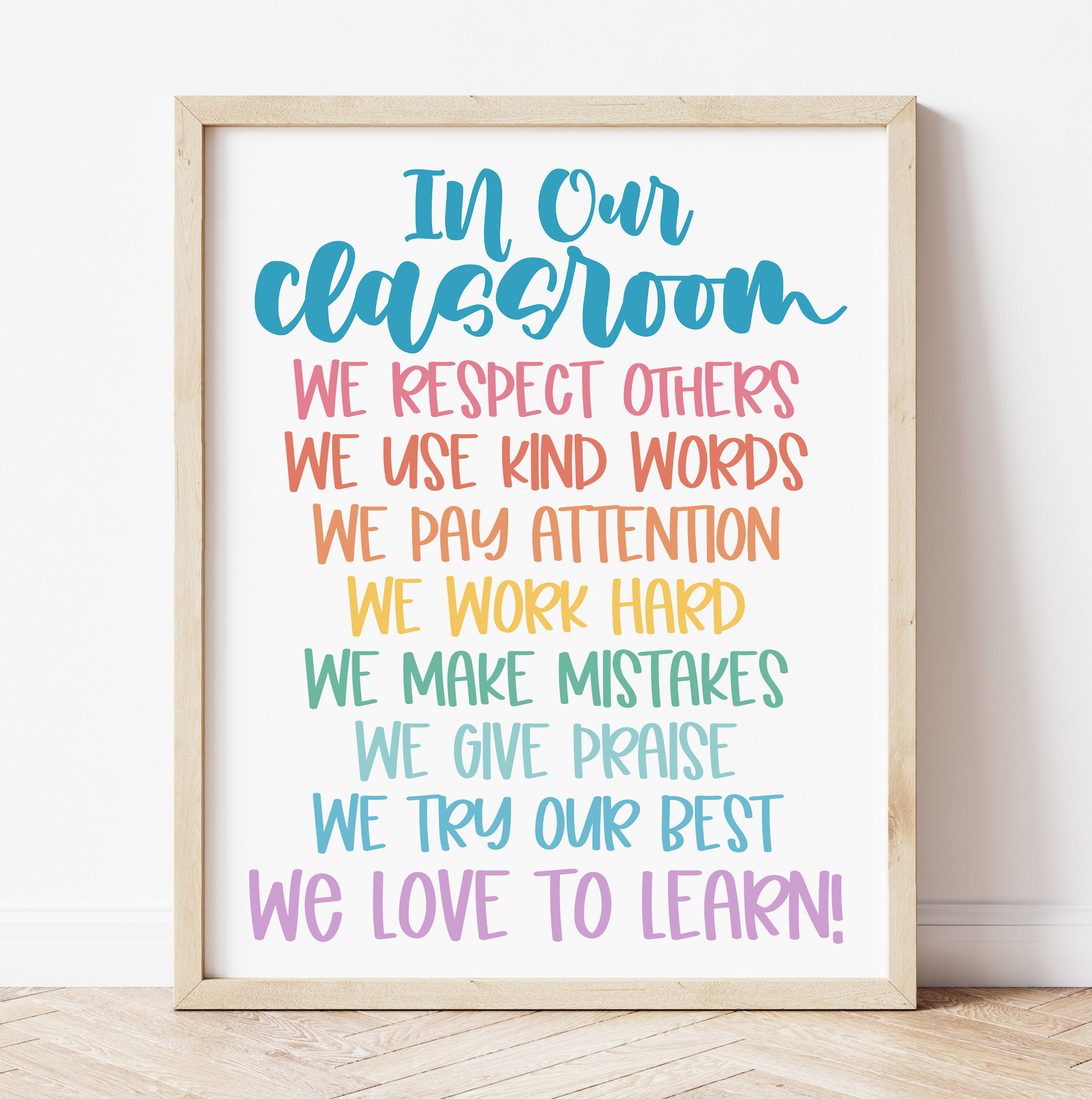 In Our Classroom Positive Rules for the Classroom - Free Classroom Printable