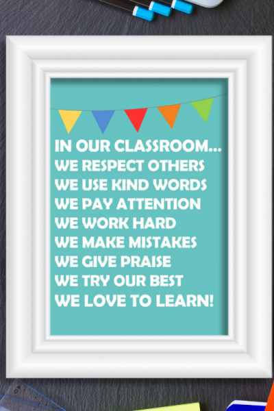 In our Classroom Free Printable