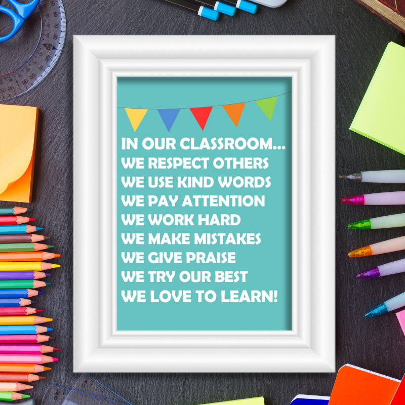 In Our Classroom Rules Free Printable