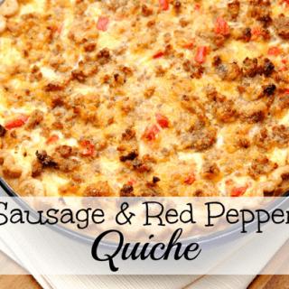 Sausage Red Pepper Quiche