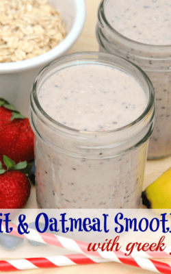 Fruit and Oatmeal Smoothies