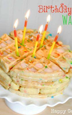Birthday Cake Waffles Recipes