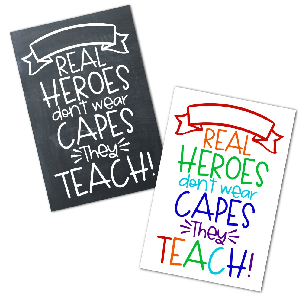 Real Heroes Teach Editable Printable