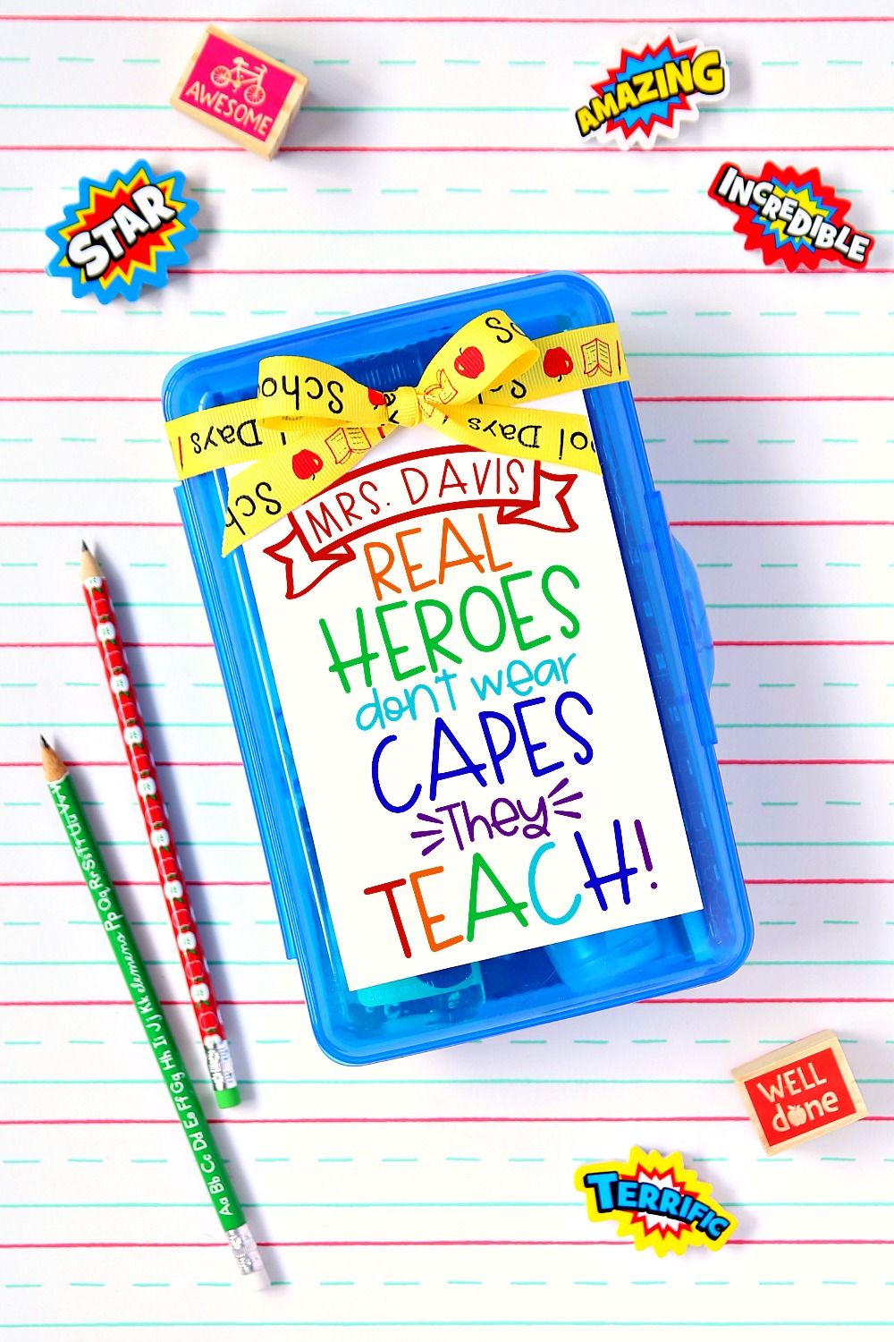 Real Heroes Teach Gift Box And Printable Happy Go Lucky