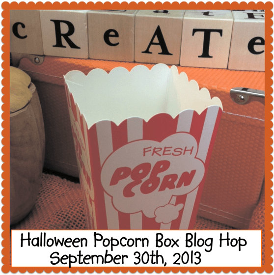 Halloween Popcorn Box Blog Hop