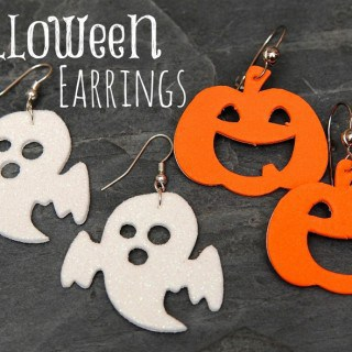 Halloween Earrings using Foam Shapes
