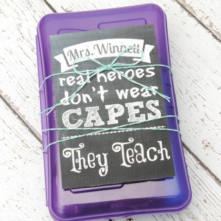 Real Heroes Teach {Gift Box and Printable}