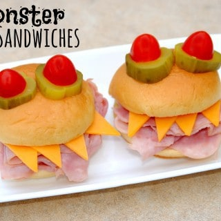 Monster Sandwiches {and other fun Halloween dinner ideas}
