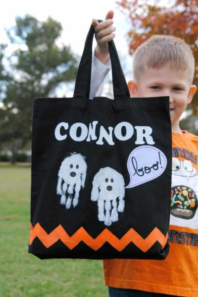 Personalized trick-or-treat Halloween bag