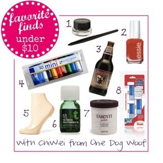 Favorite Finds Under $10 with ChiWei from One Dog Woof