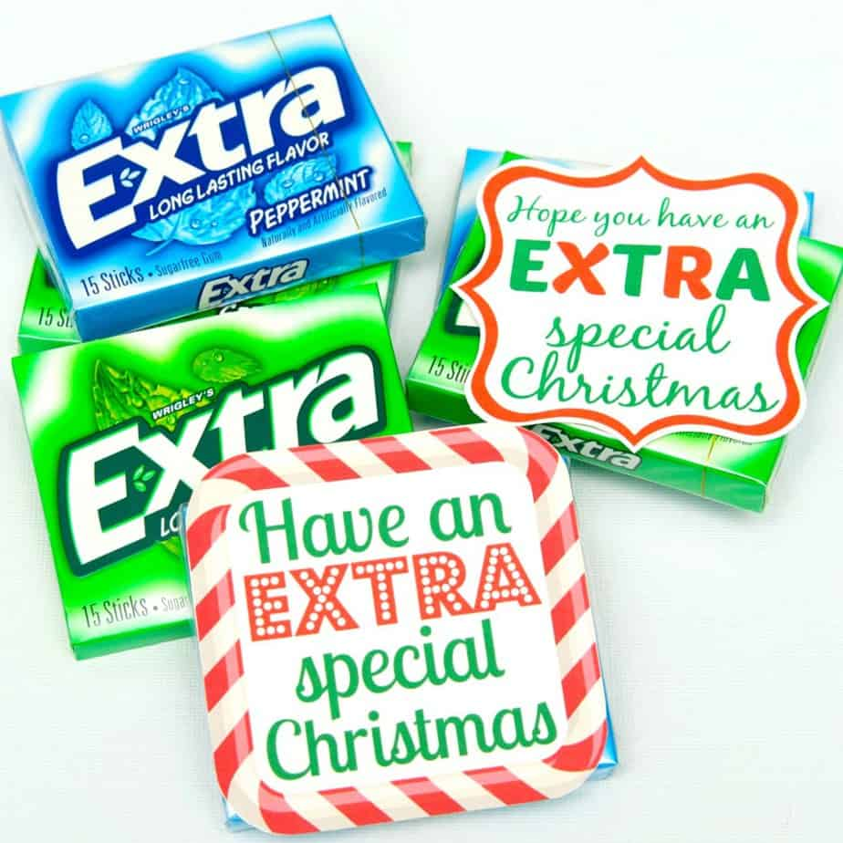 picture about Extra Gum Teacher Appreciation Printable identified as Basic Reward Thought with Much more Gum #GiveExtraGum