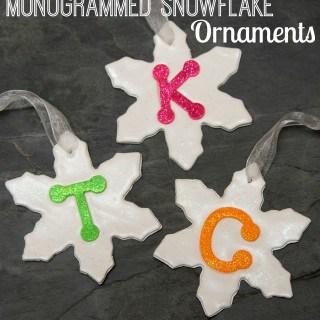 Monogrammed Snowflake Ornament