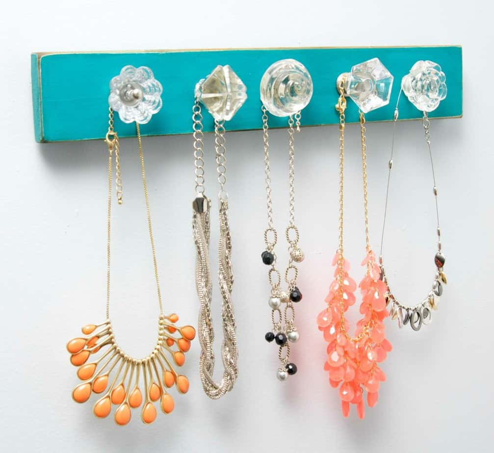 Necklace Holder with Glass Knobs
