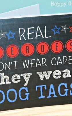 Real Heroes Wear Dog Tags