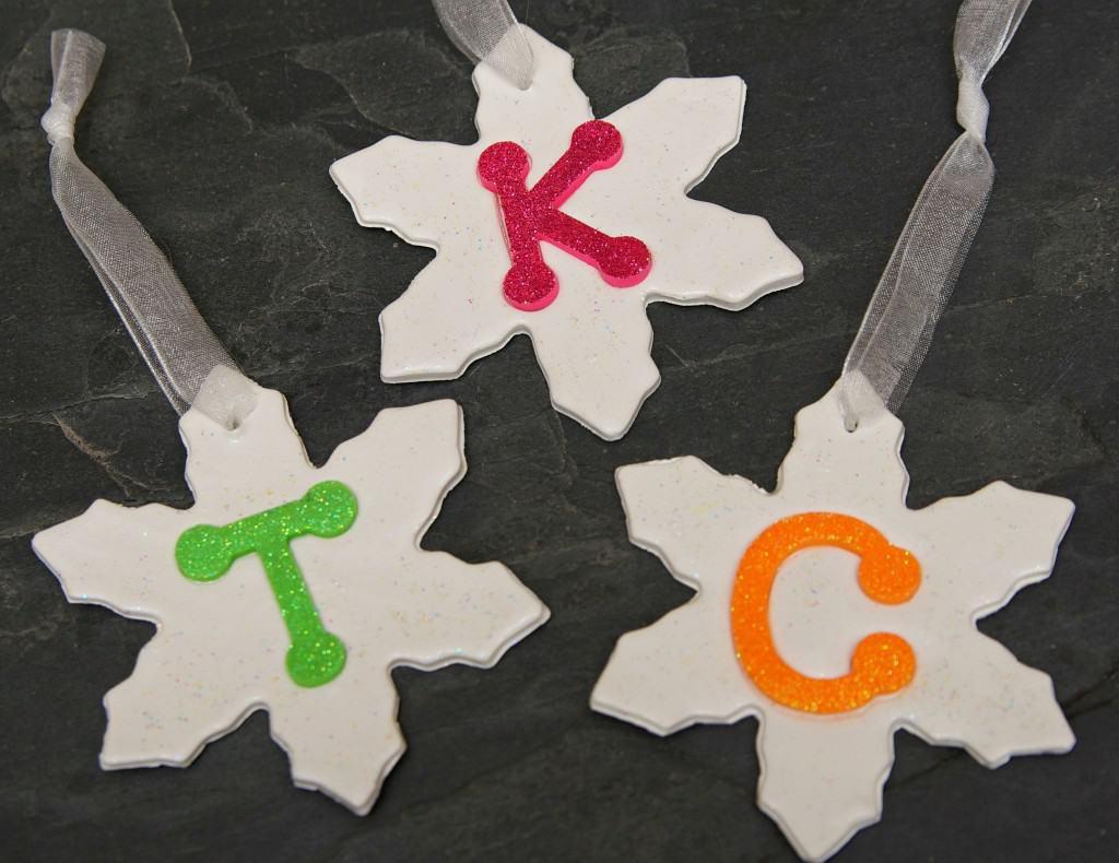 Snowflake Monogrammed Ornaments