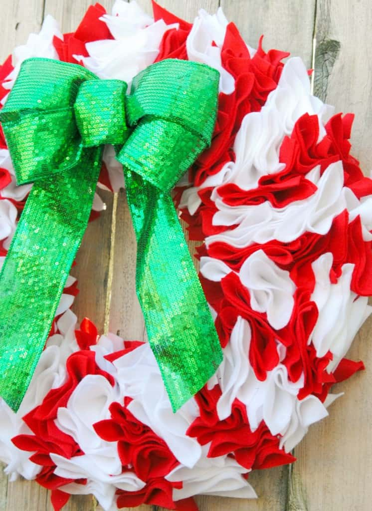 Felt Candy Cane Wreath