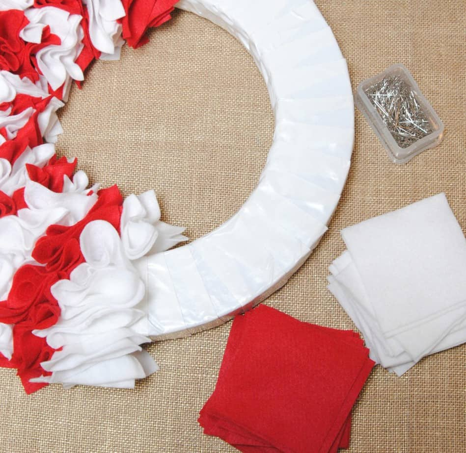 Candy Cane Wreath Supplies