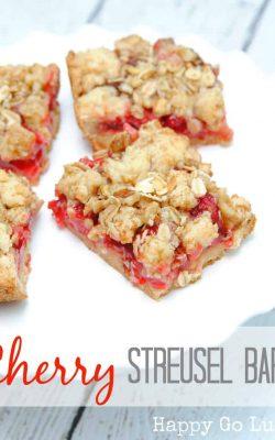 Cherry Streusel Bars