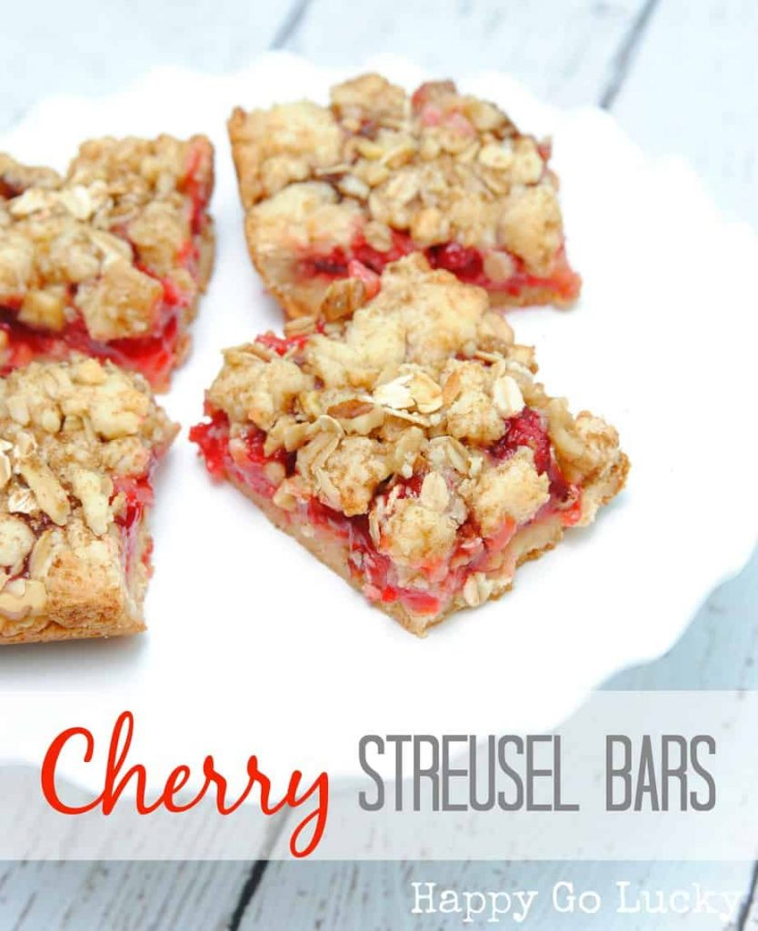 Cherry Streusel Bars