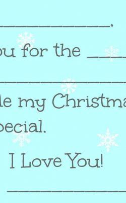 Fill-in-the-Blank Christmas Thank You Card