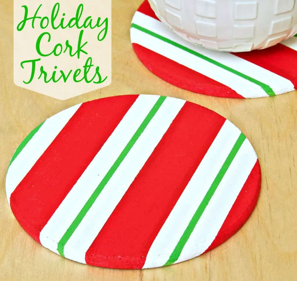 Make a Holiday Cork Trivet using FrogTape